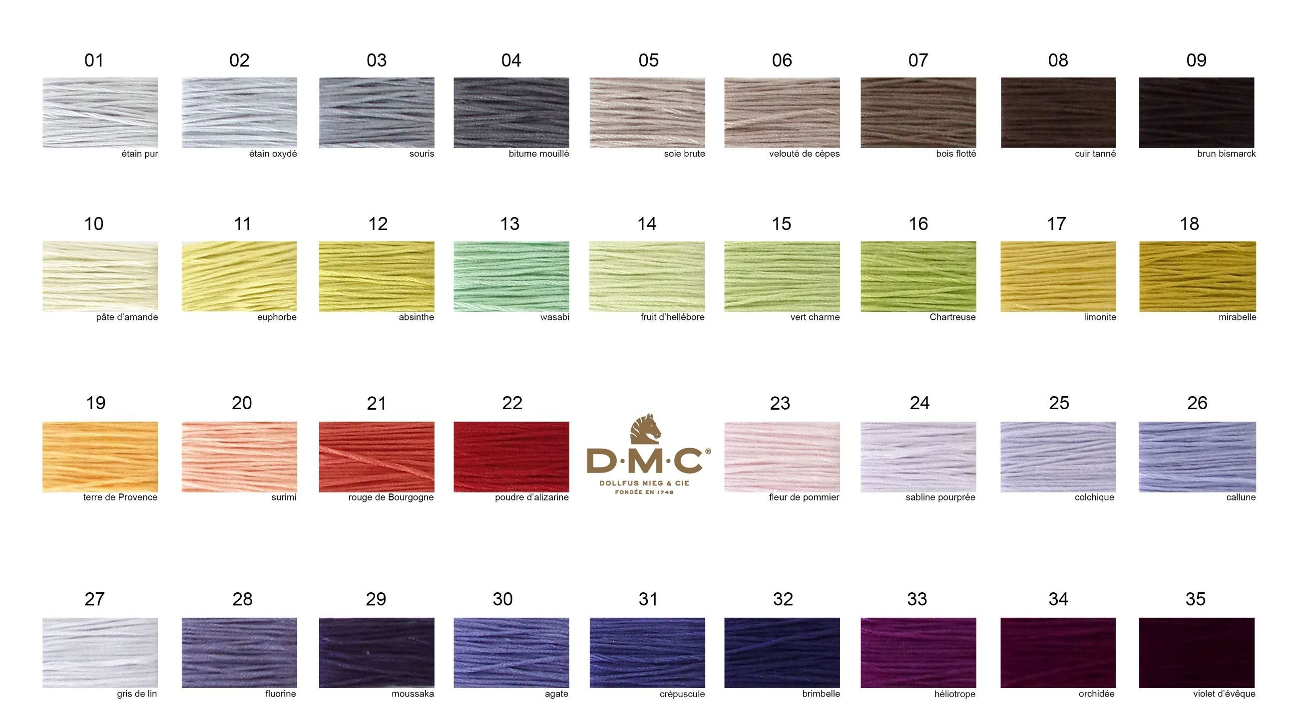 New dmc stranded cotton threads 01 35 home threads wools dmc threads stranded cottons art 117 new colours 01 35 nvjuhfo Image collections